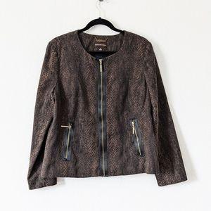 Dana Buchman Animal Print Jacket Blazer Size 16
